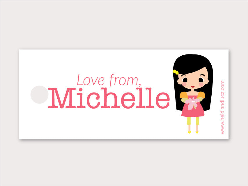 Petite Gift Tag - Michelle