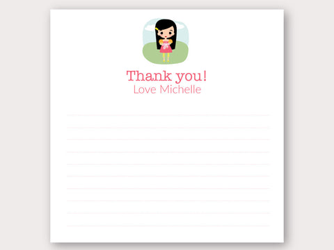 Michelle Thank You Note Card