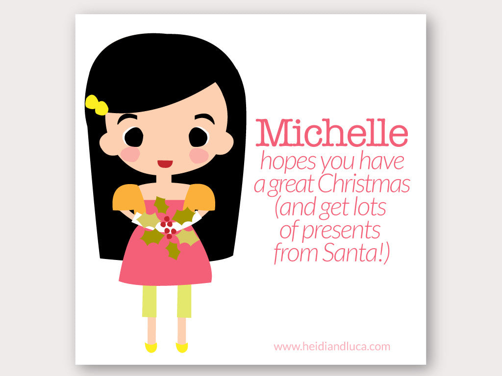 Christmas Greeting Card - Michelle