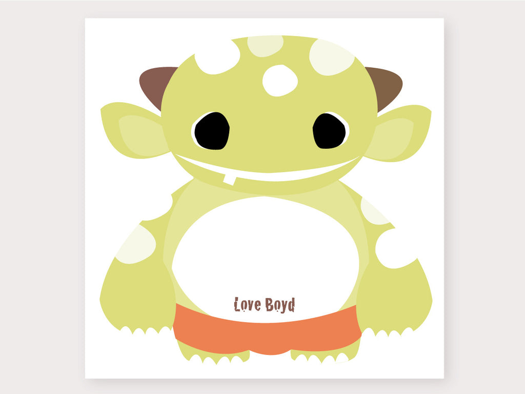 Milly Monster Large Note Card