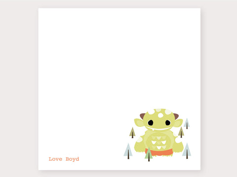 Milly Monster Note Card