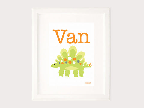 Name Print - Myriam the Stegosaurus