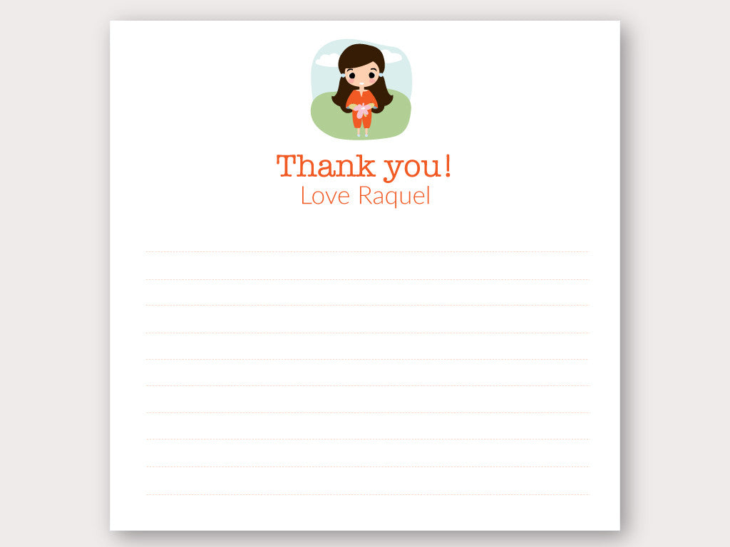 Raquel Thank You Note Card