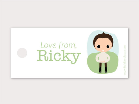 Petite Gift Tag - Ricky