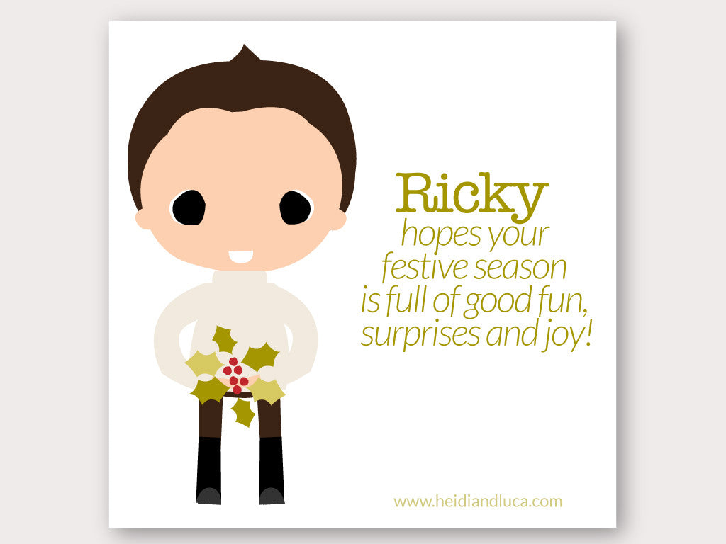 Christmas Greeting Card - Ricky