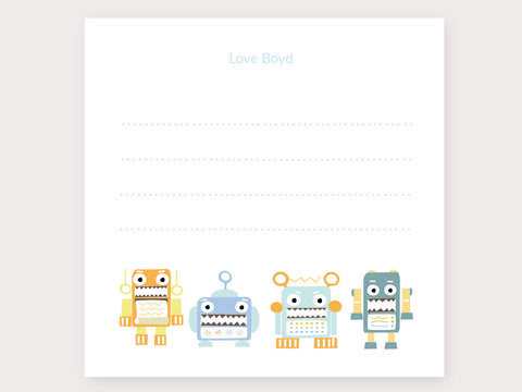 Robot Love Note Card