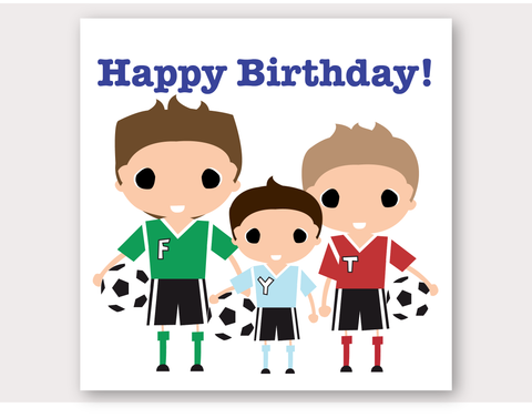 Soccer Heroes Greeting Card