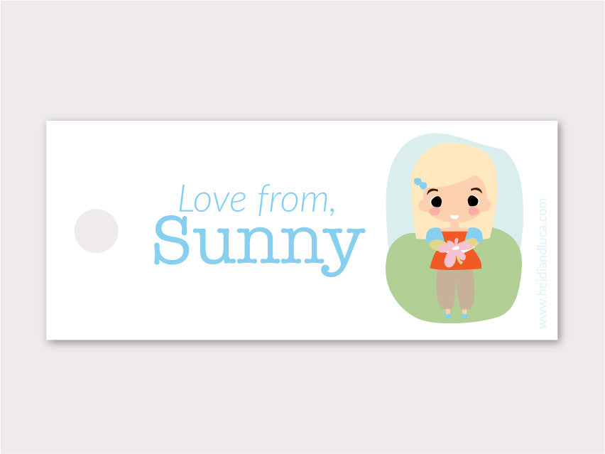 Petite Gift Tag - Sunny