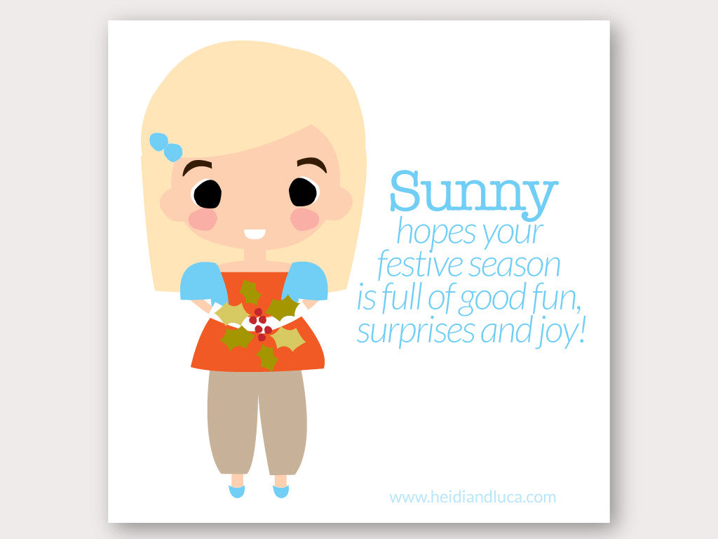 Christmas Greeting Card - Sunny