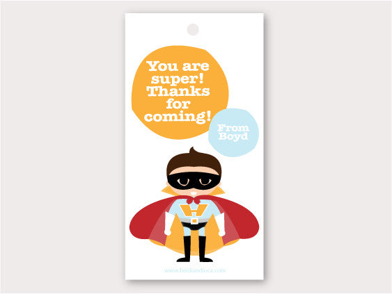 Party Thank You Card - Super Hero