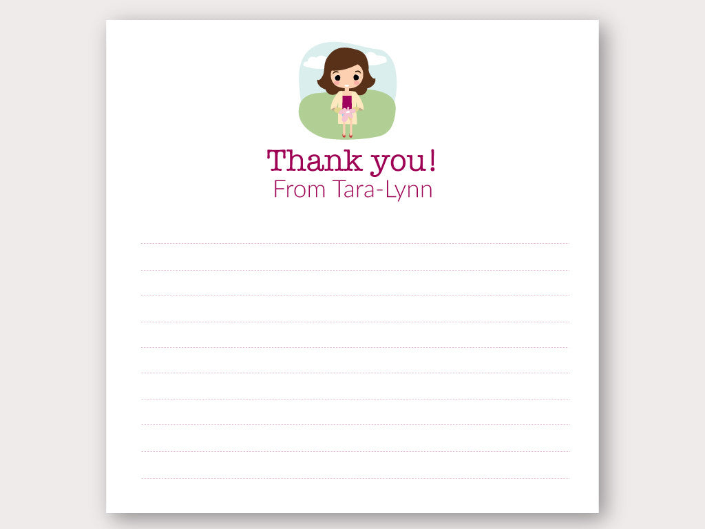 Tara Lynn Thank You Note Card