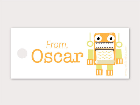 Petite Gift Tag - Totally Robotic