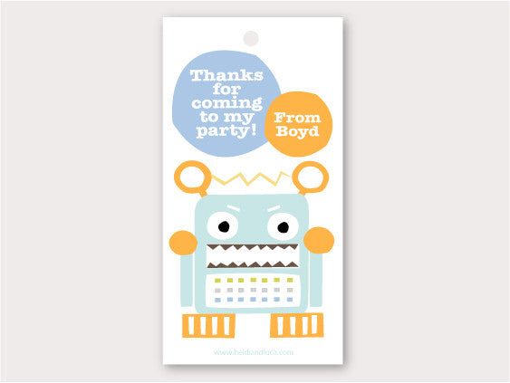 Party Thank You Card - Totally Robotic