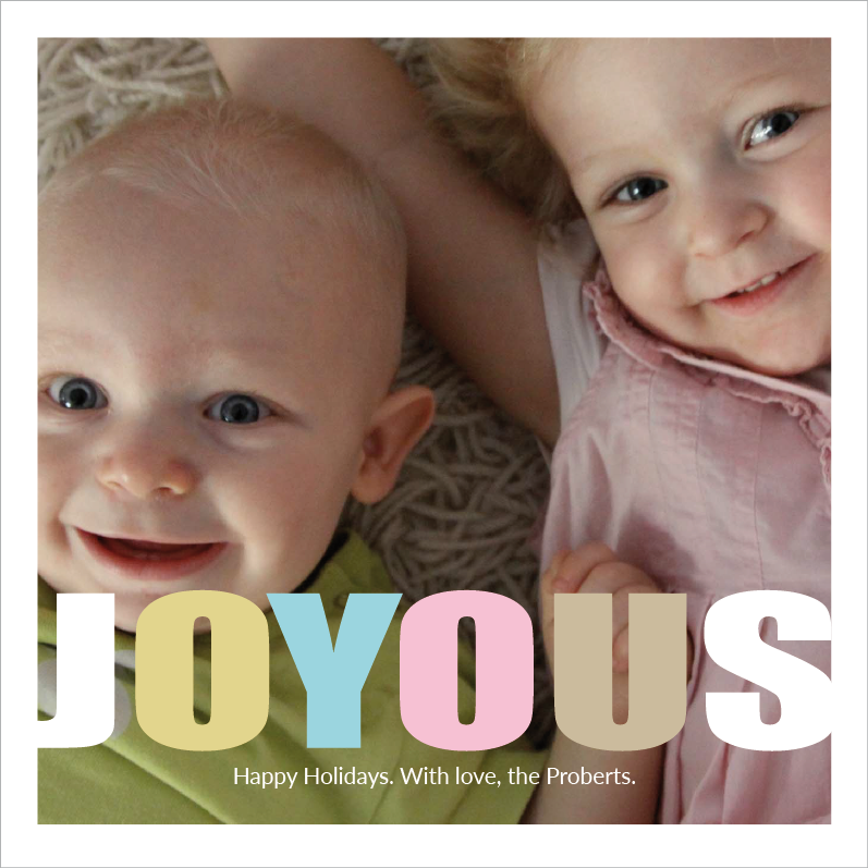 Joyous Photo Card