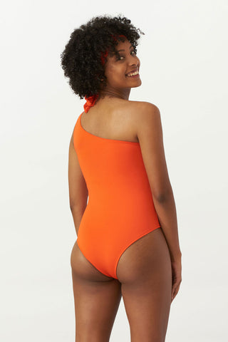 Asymmetrical Swimsuit Papaya Solo