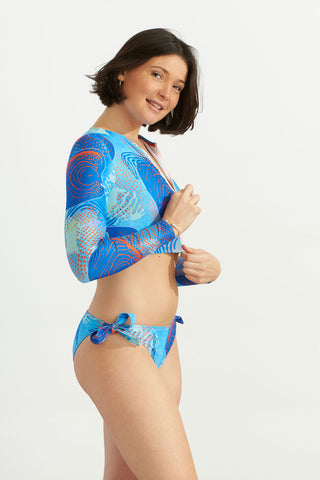Zip Up Short Rash Guard Indian Ocean