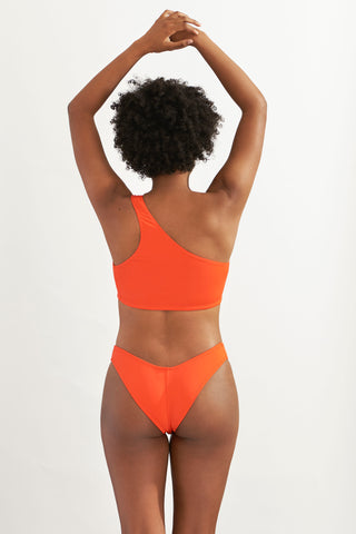 Bralette One Shoulder Papaya Solo