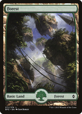 Forest (271) - Full Art [Battle for Zendikar] | Waypoint Games CA