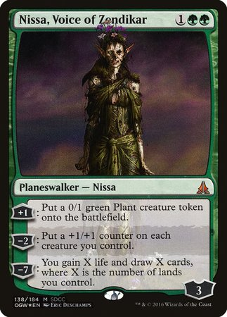Nissa, Voice of Zendikar SDCC 2016 EXCLUSIVE [San Diego Comic-Con 2016] | Waypoint Games CA