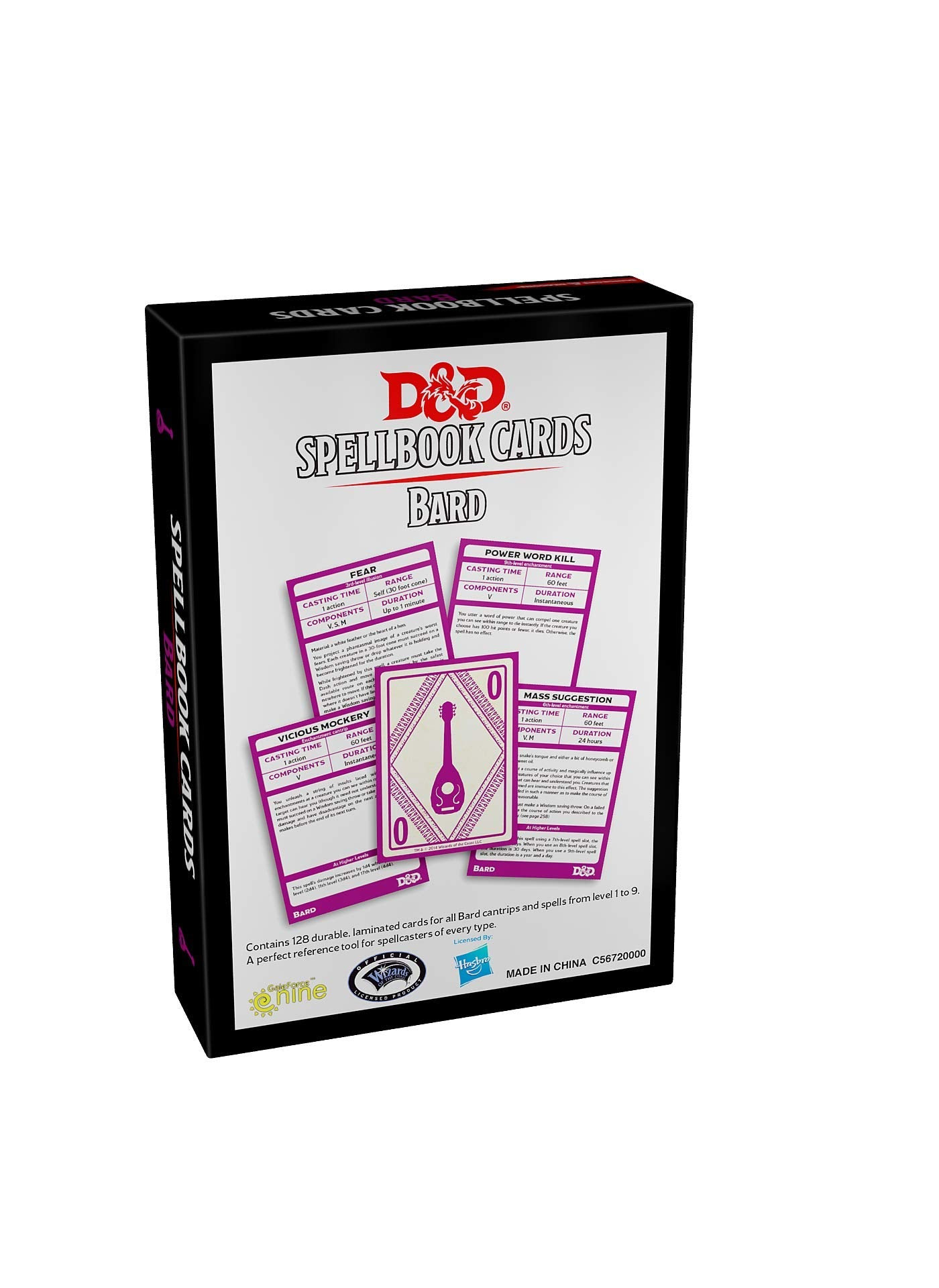 Dungeons & Dragons Spellbook Cards: Bard | Waypoint Games CA