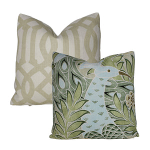 Aqua and Green Desmond Pillow Cover
