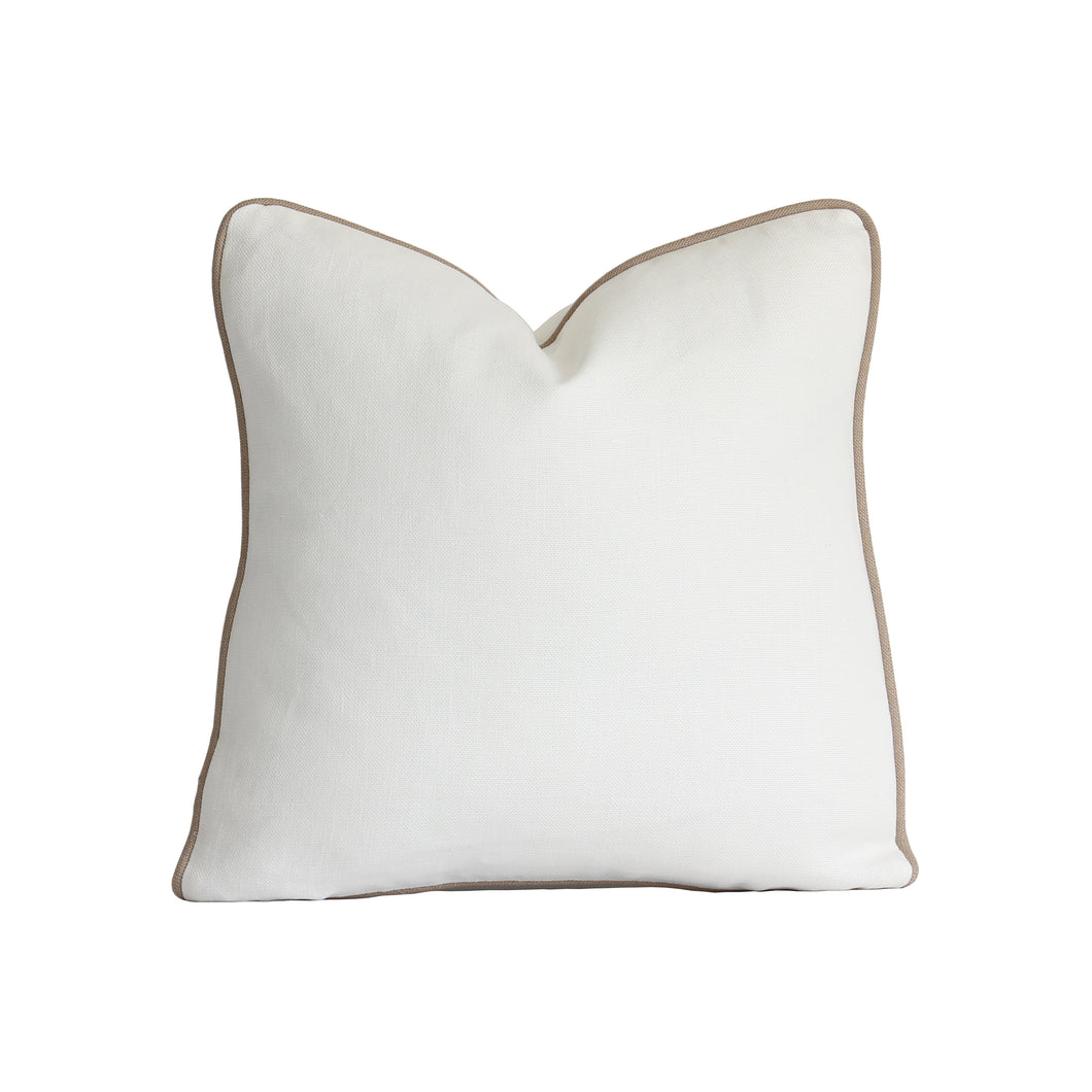 QUICK SHIP Off White Linen Pillow Cover