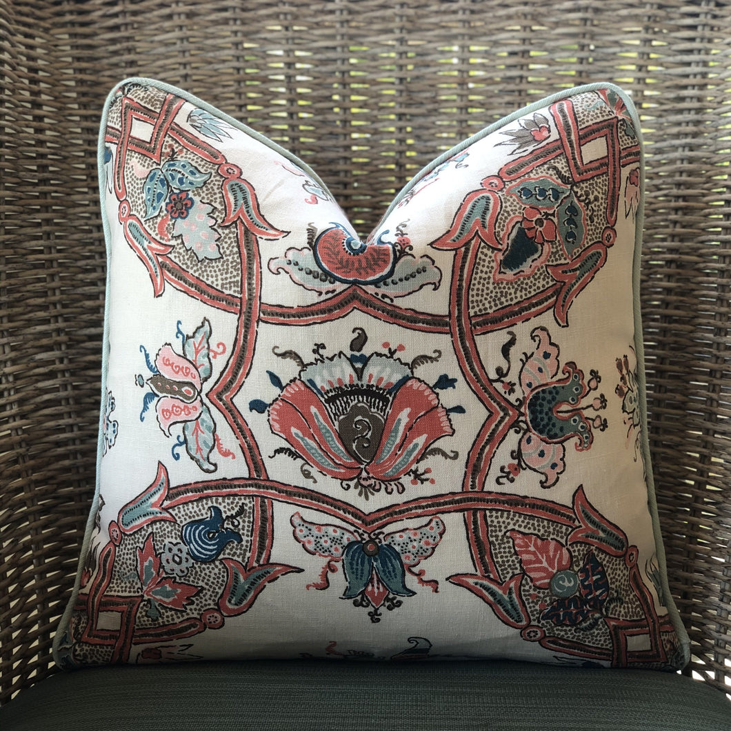 Coral Sissy Pillow Cover
