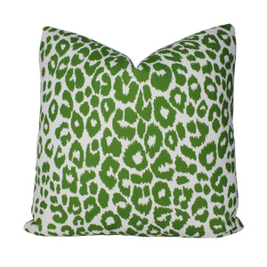 Green Iconic Leopard Indoor Outdoor Pillow Cover