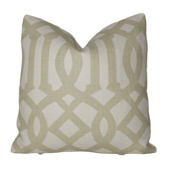 Sand and Ivory Imperial Trellis Pillow Cover