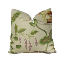 Load image into Gallery viewer, Parchment Lotus Garden Pillow Cover