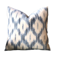 Load image into Gallery viewer, Indigo Santa Monica Ikat PIllow Cover