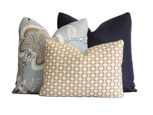 Load image into Gallery viewer, Navy Blue Linen Pillow Cover