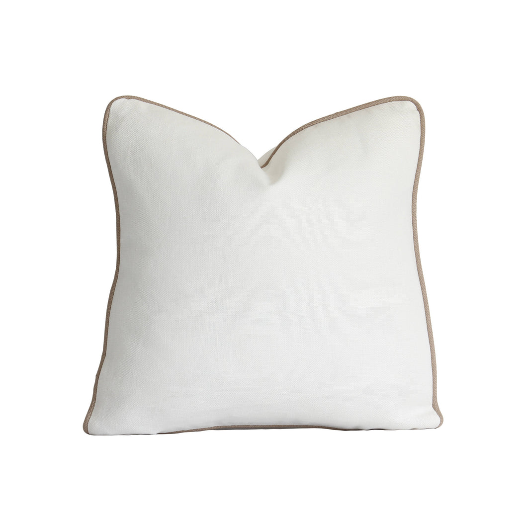 Off White/Ivory Linen Decorative Pillow Cover