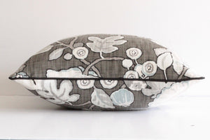Charcoal Hip Floral Pillow Cover