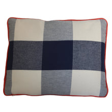 Load image into Gallery viewer, QUICK SHIP Navy Blue Buffalo Check Pillow Cover