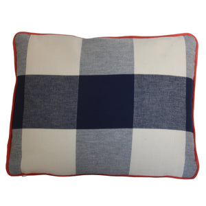 QUICK SHIP Navy Blue Buffalo Check Pillow Cover