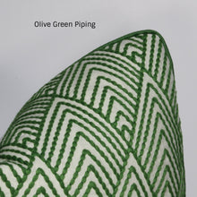 Load image into Gallery viewer, Green Avila Embroidery Pillow Cover