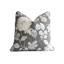Load image into Gallery viewer, Charcoal Hip Floral Pillow Cover