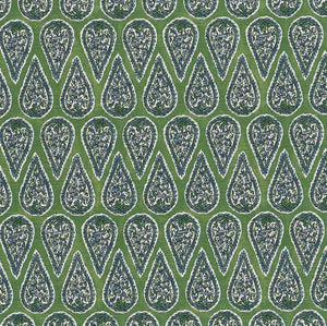 Kelly Green Paisley Pillow Cover