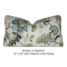 Load image into Gallery viewer, Sapphire Brissac Pillow Cover