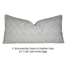 Load image into Gallery viewer, Feather Grey Davis Pillow Cover