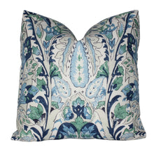 Load image into Gallery viewer, Blue and Green Layla Paisley Pillow Cover