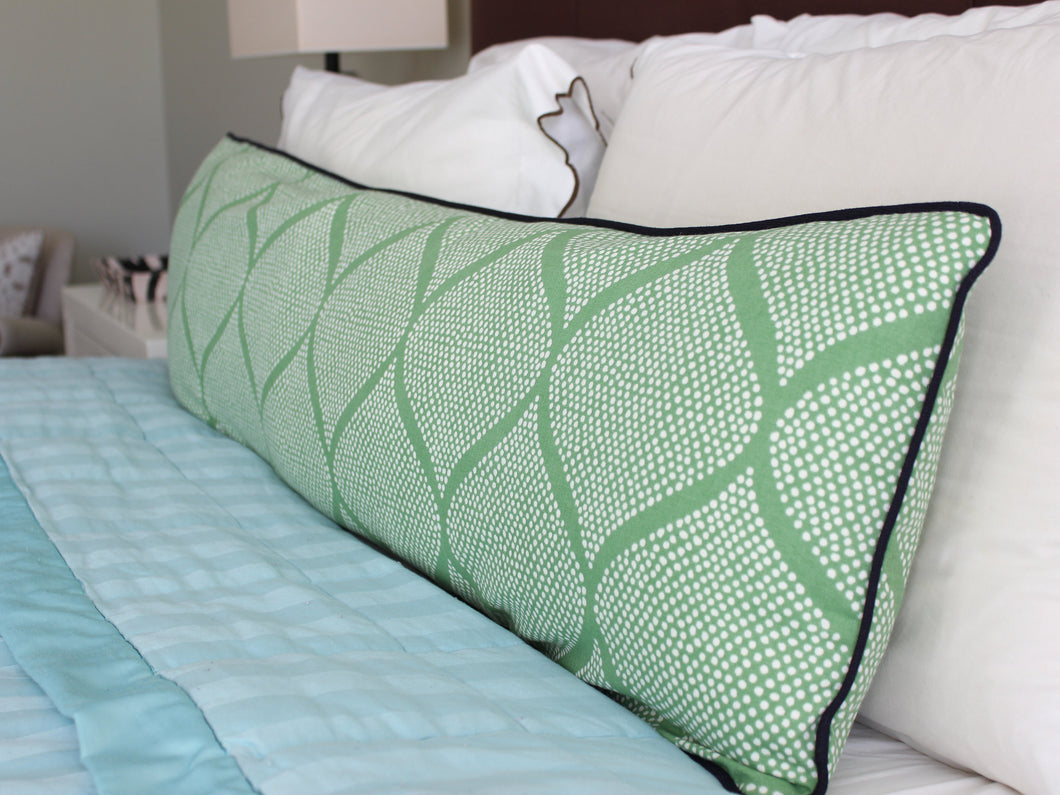 Grass Green Mocambo Pillow Cover
