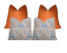 Load image into Gallery viewer, Orange Linen Pillow Cover