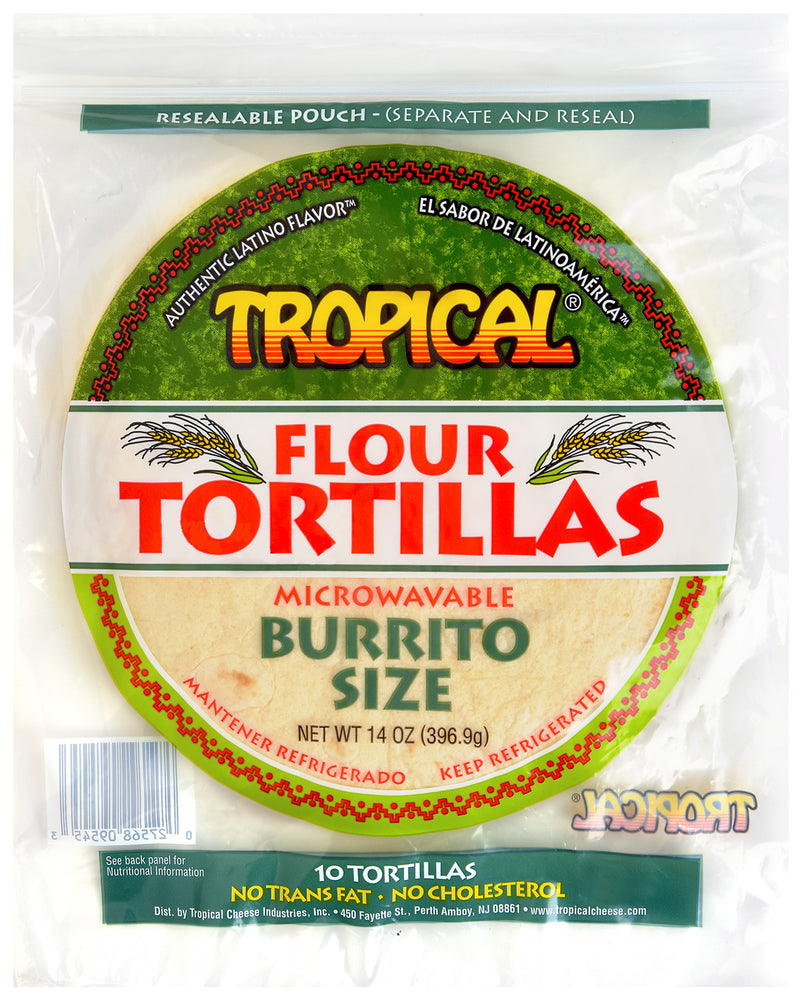 TROPICAL Flour tortillas: Burrito size 14oz