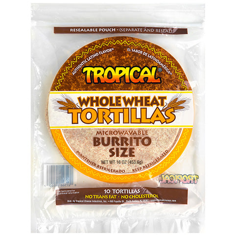 Tortillas de Trigo Size Burrito TROPICAL 16 Oz