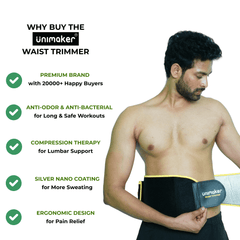 Waist Trimmer with Silver Nano Coating