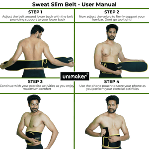 Sweat Slim Belt for Fitness - Body Shaping Belt
