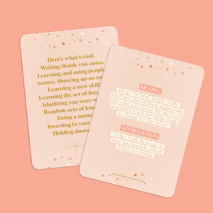 Lisa Messenger // Affirmations to Guide Your Journey Box Card Set