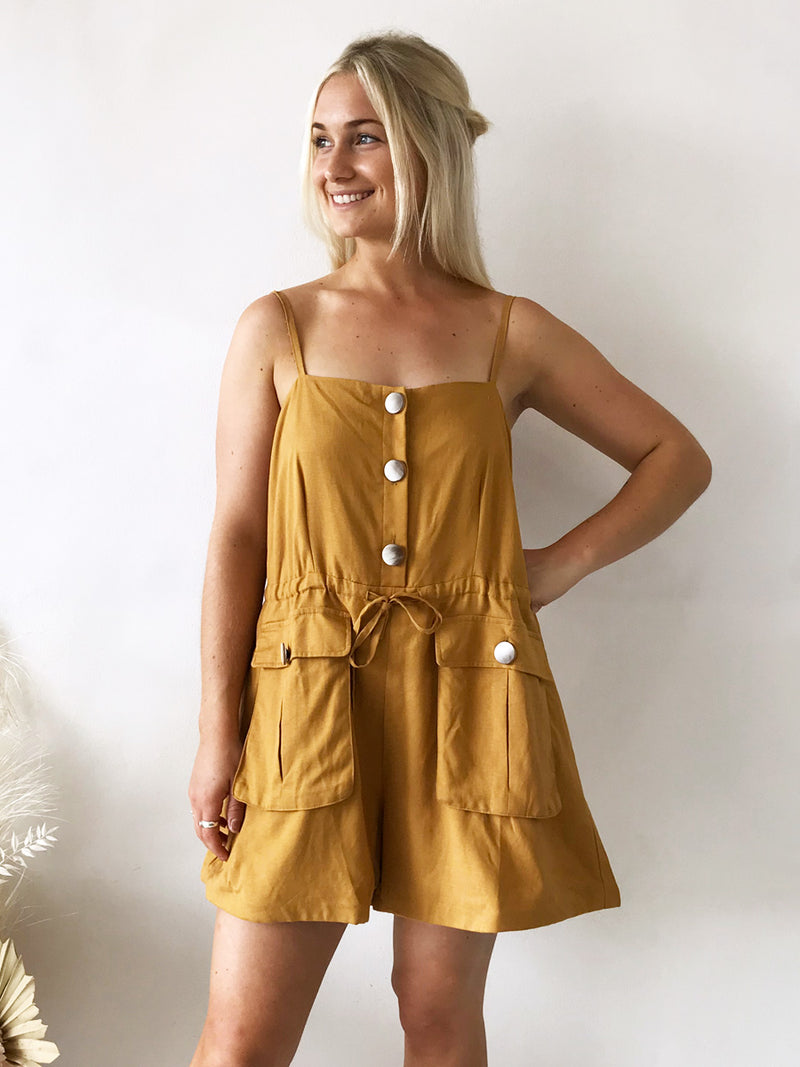 Lost In Luna // Penny Playsuit Mustard
